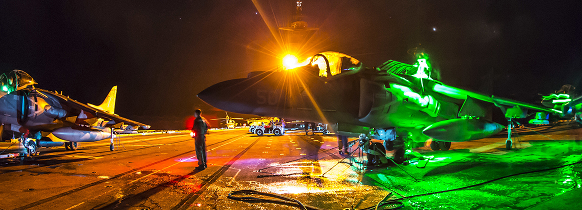 USS Boxer Night Flight Operations
